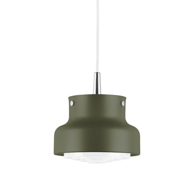 Bumling mini Ø250 taklampa pudergrön struktur