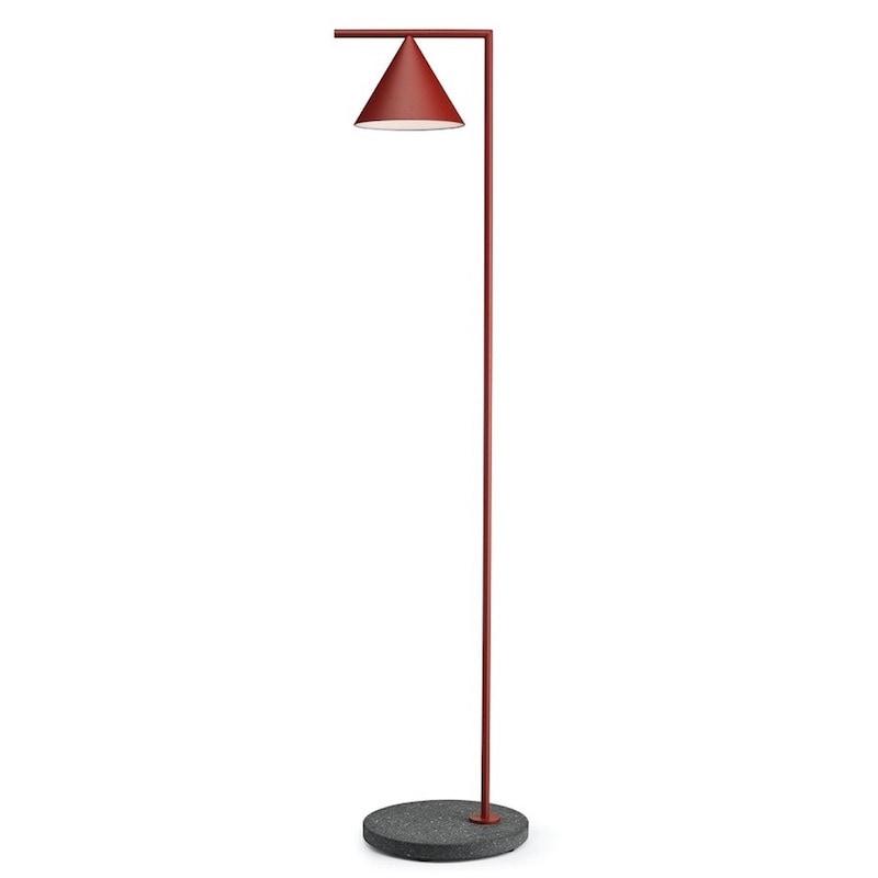 Captain flint outdoor golvlampa burgundy röd/svart lava