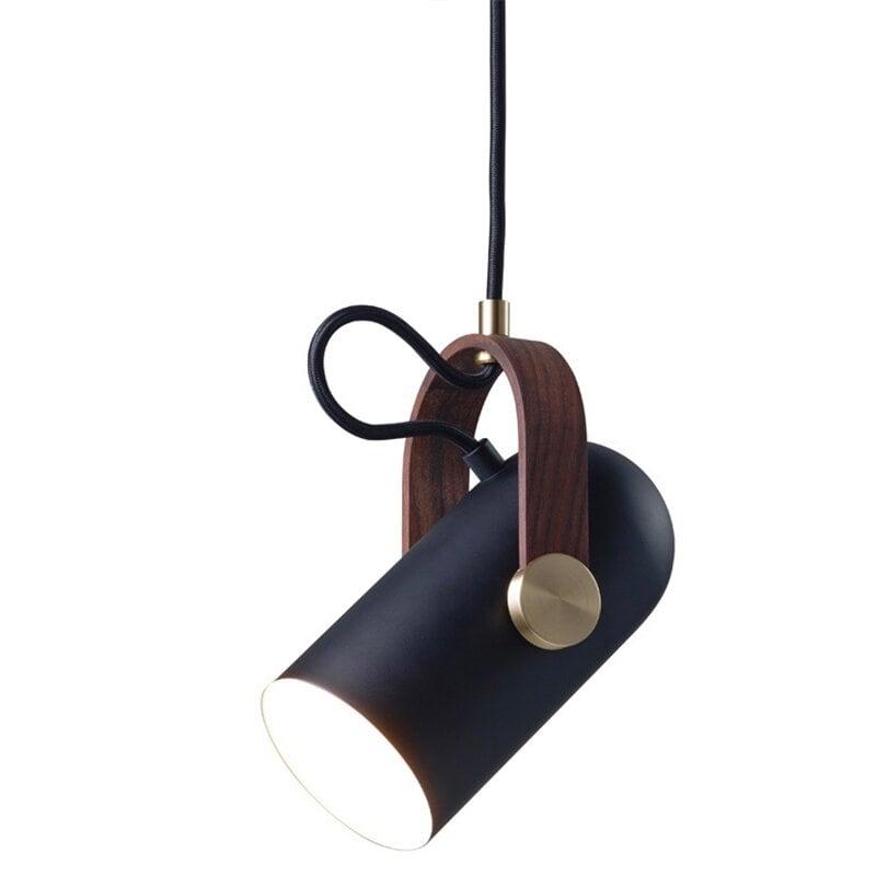 Carronade small taklampa svart/valnöt
