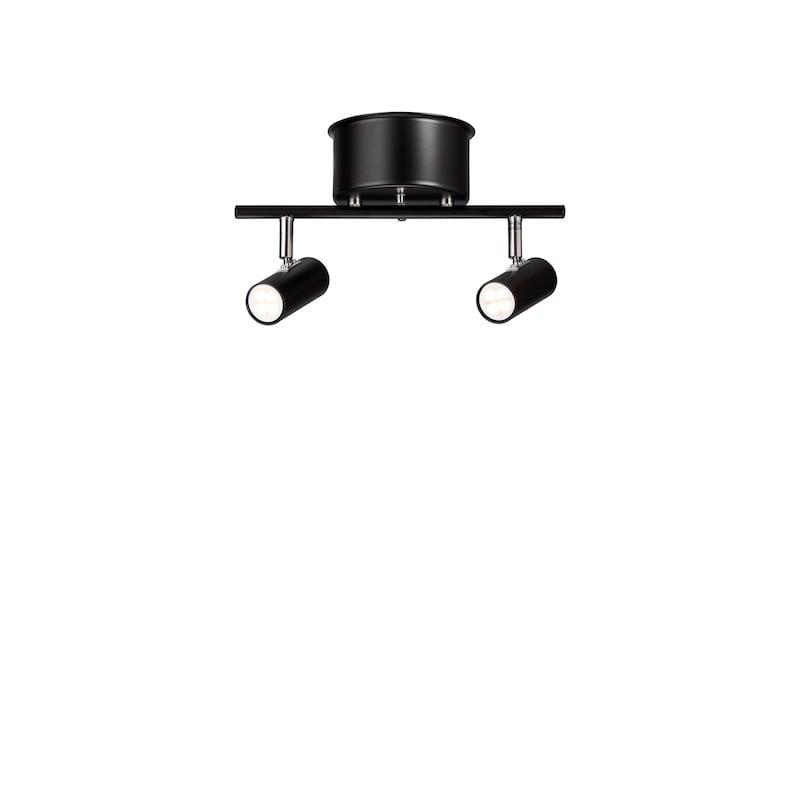 Cato takspot 2 rak led svart