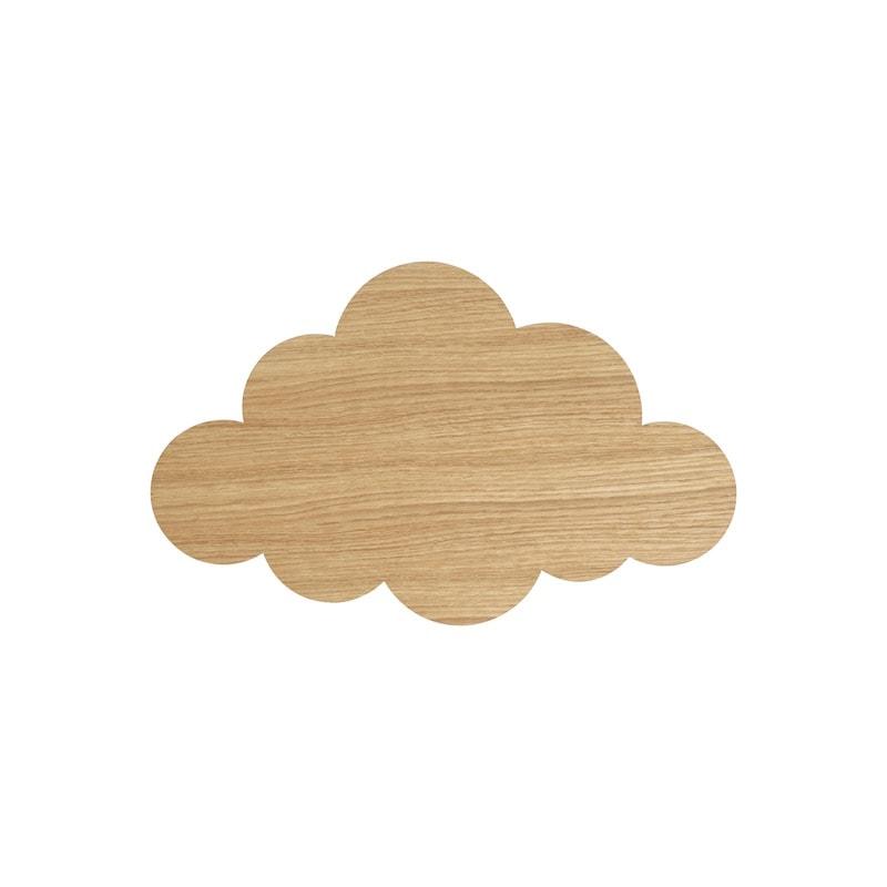 Cloud lamp oiled oak vägglampa