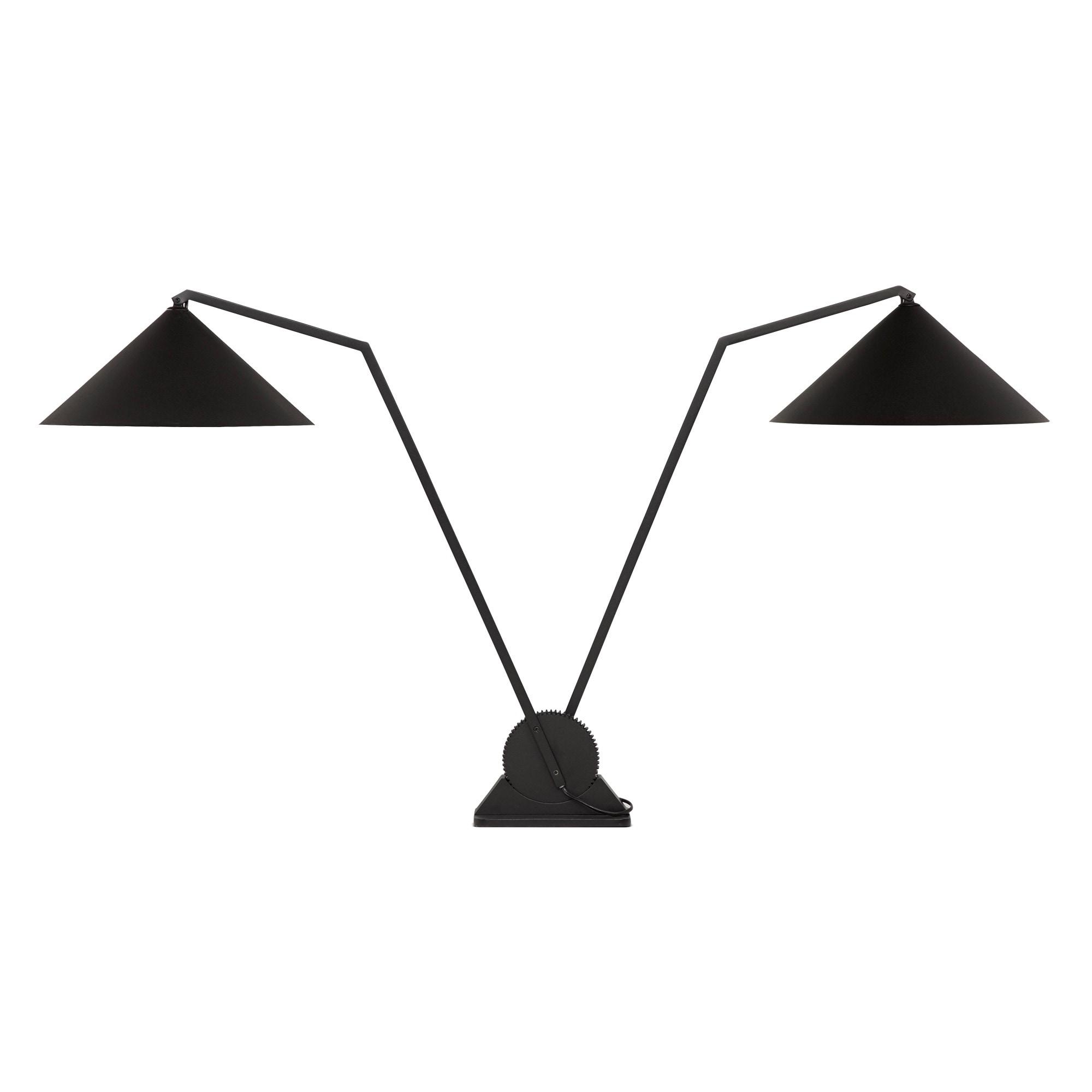 Gear bordslampa dubbel svart
