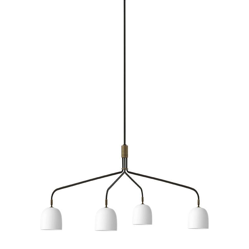 Howard 4-lågig lång taklampa bone china