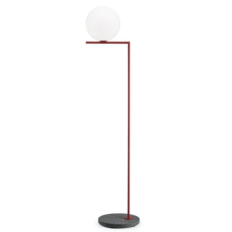 IC light F2 outdoor golvlampa burgundy röd/svart lava