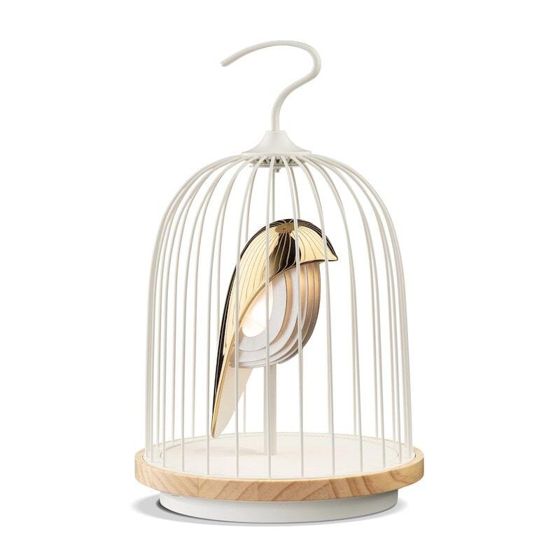 Jingoo bordslampa/högtalare white phoenix