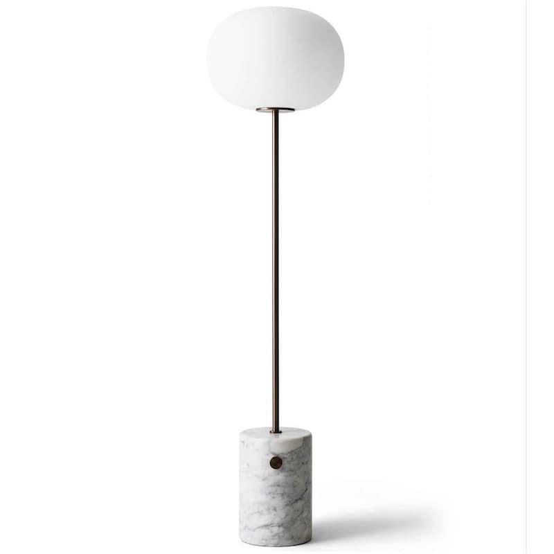 JWDA golvlampa white vit marmor/bronserad mässing