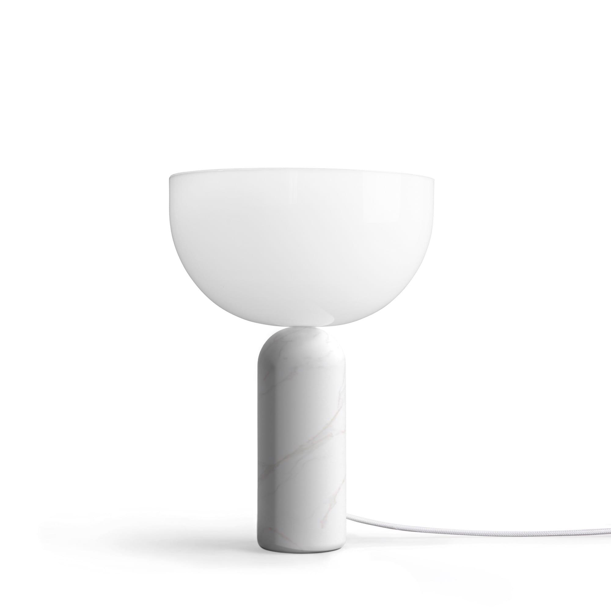 Kizu small bordslampa vit marmor
