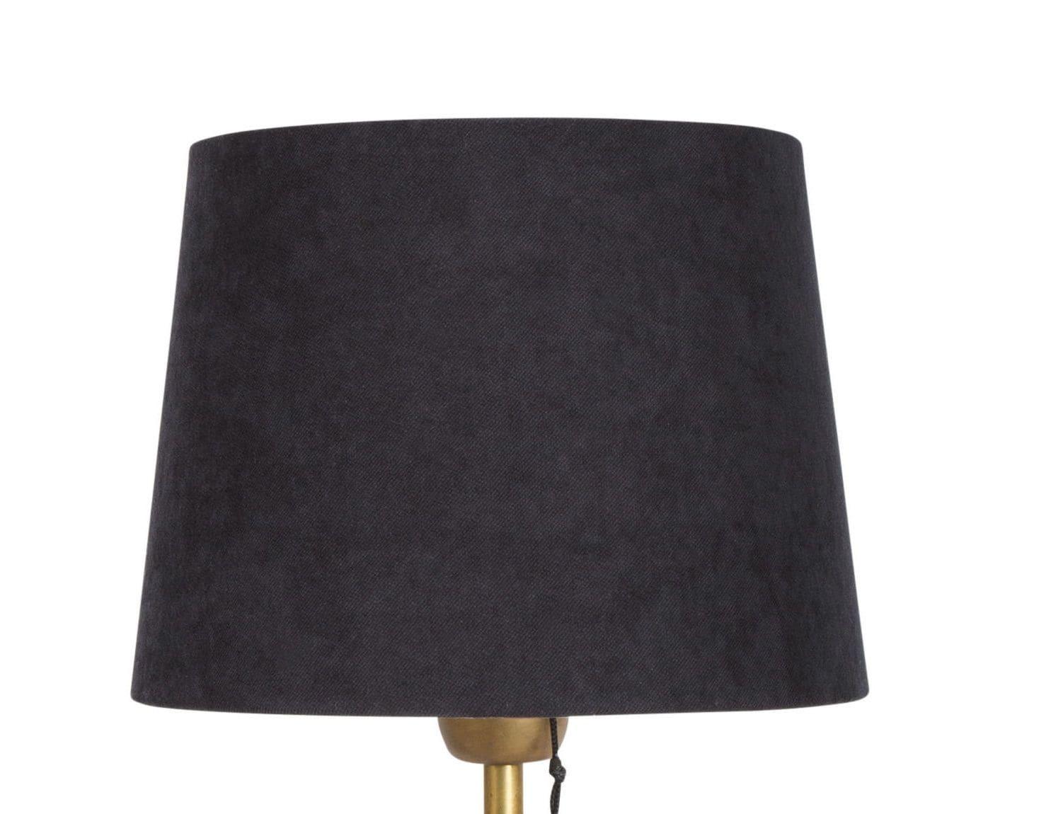 Viken 32 lampskärm svart sammet