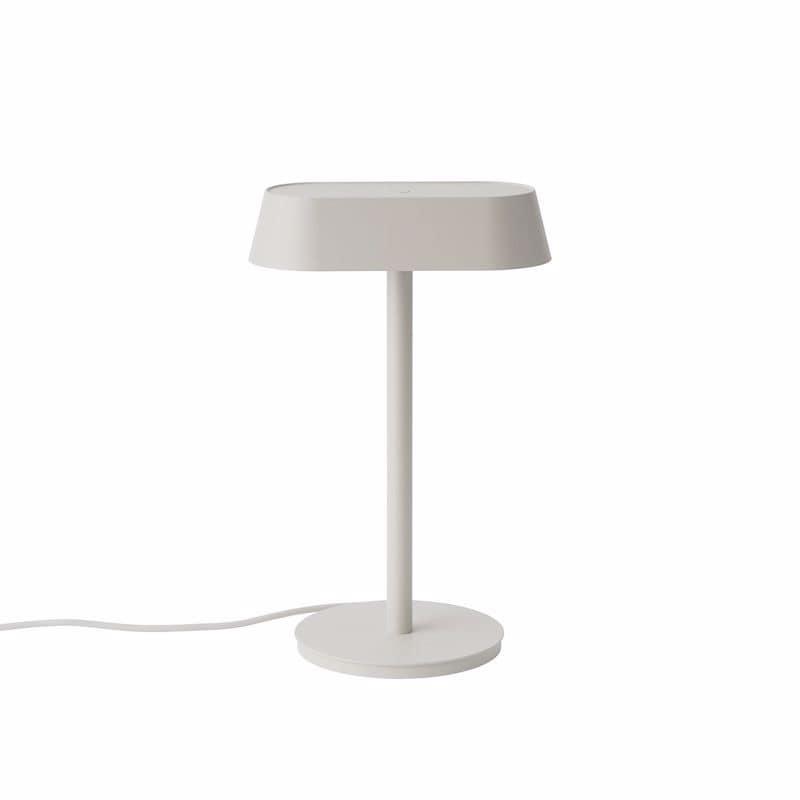 Linear bordslampa grå