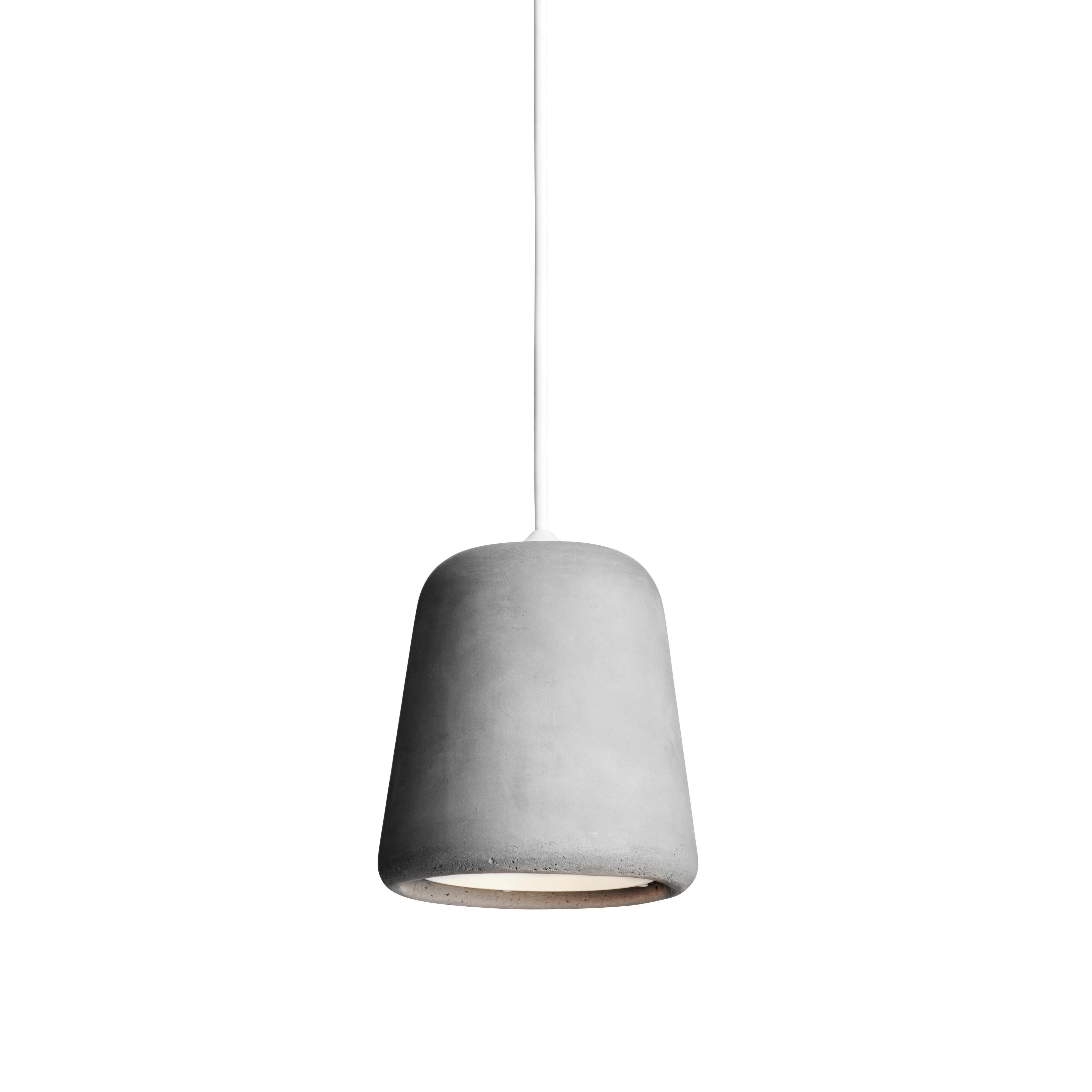 Material taklampa ljusgrå betong/vit