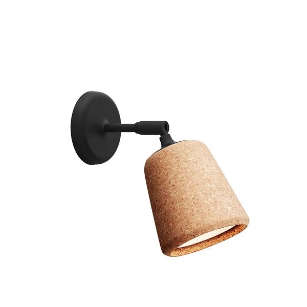 Material vägglampa kork/svart