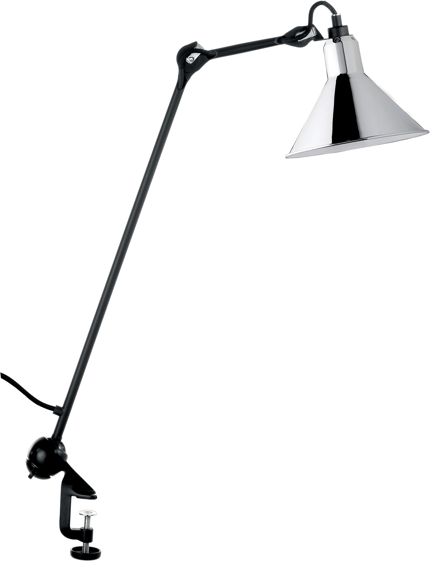 N°201 Bordslampa Krom/svart