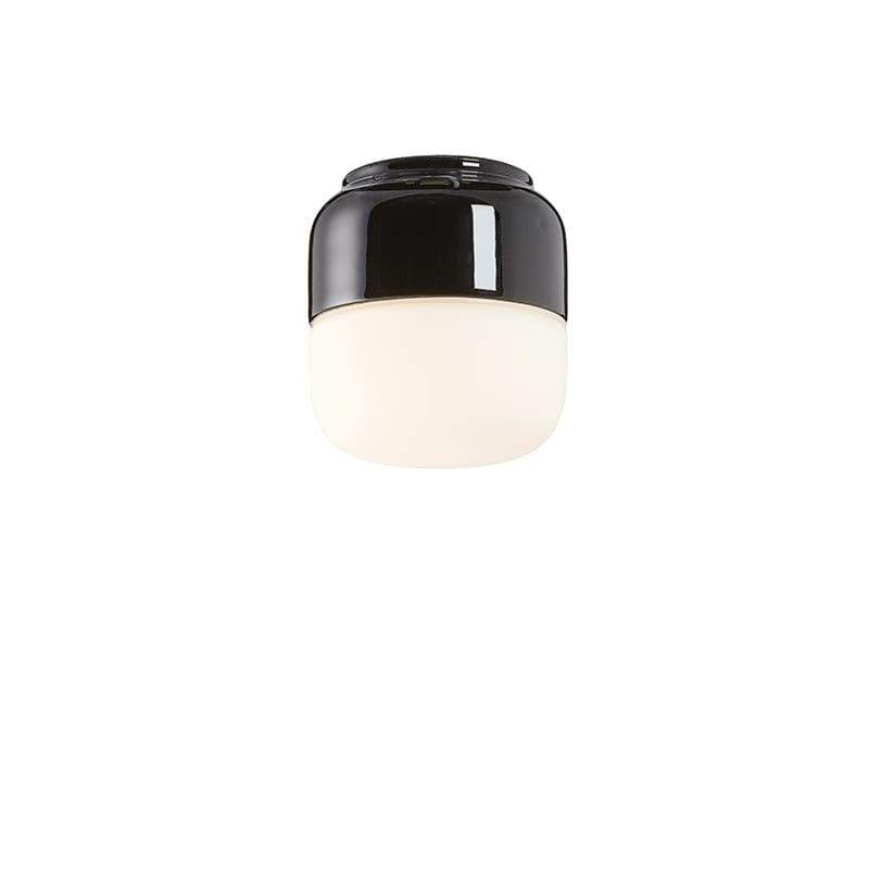 Ohm 100/110mm LED tak/vägglampa opalglas/svart