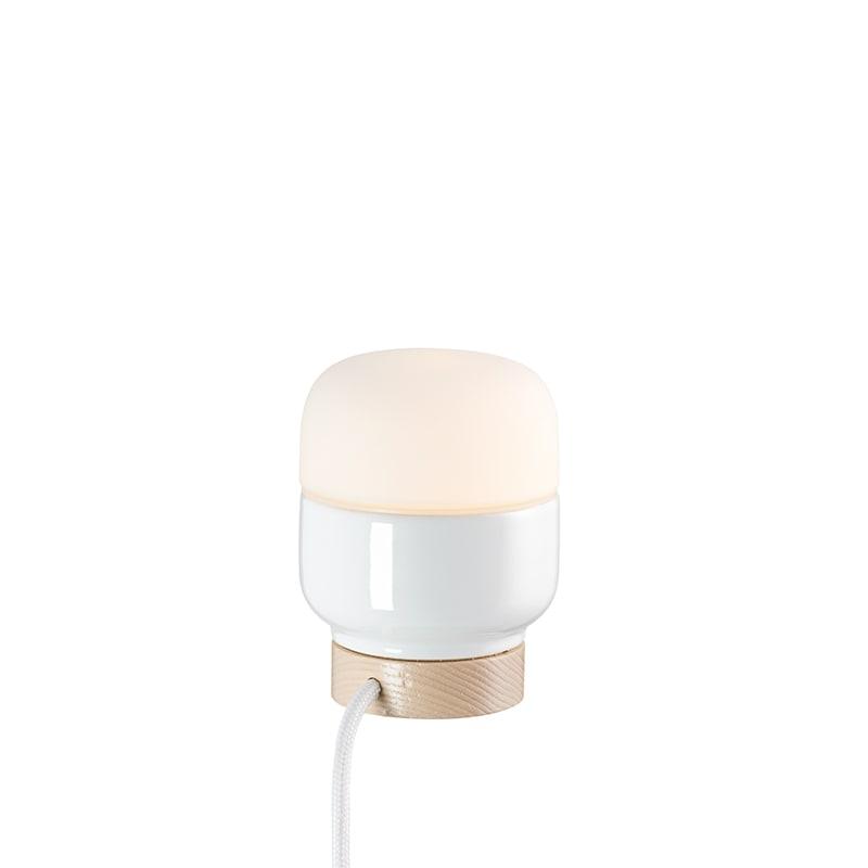 Ohm 100/130mm bordslampa opalglas/vit