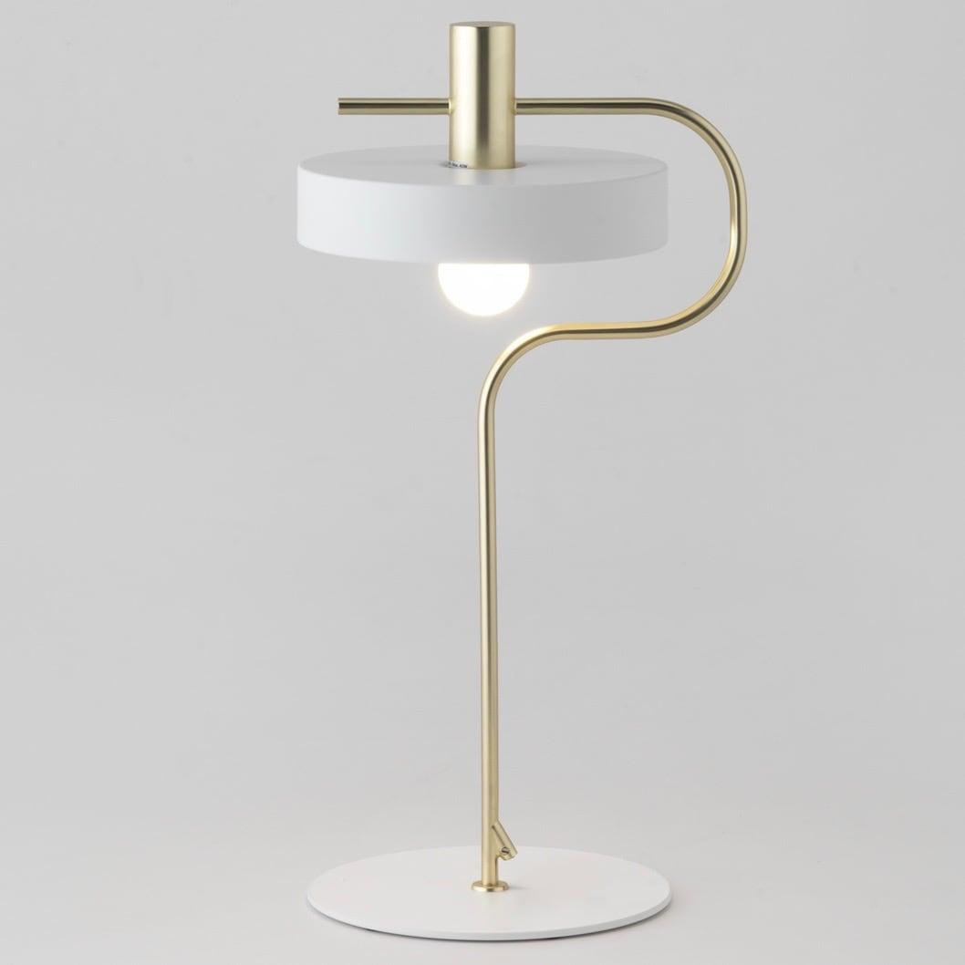 Aloa blanca bordslampa vit/matt guld