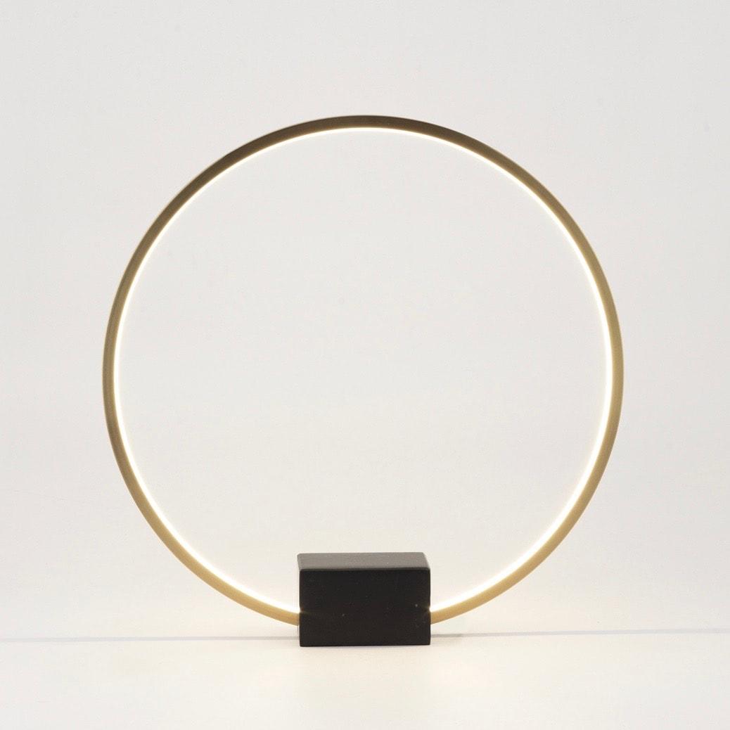 Tivoli Ø50 bordslampa brons/svart marmor