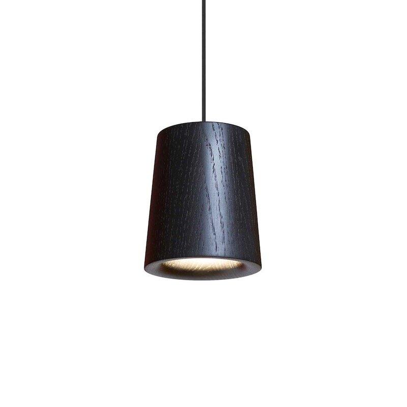 Solid cone taklampa svart