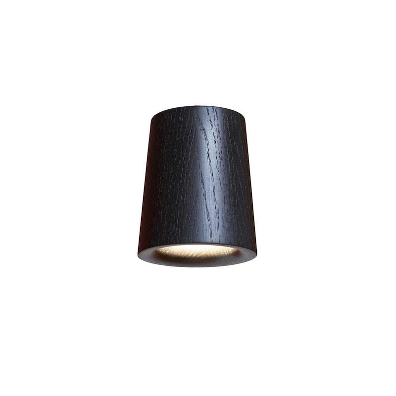 Solid cone plafond svart