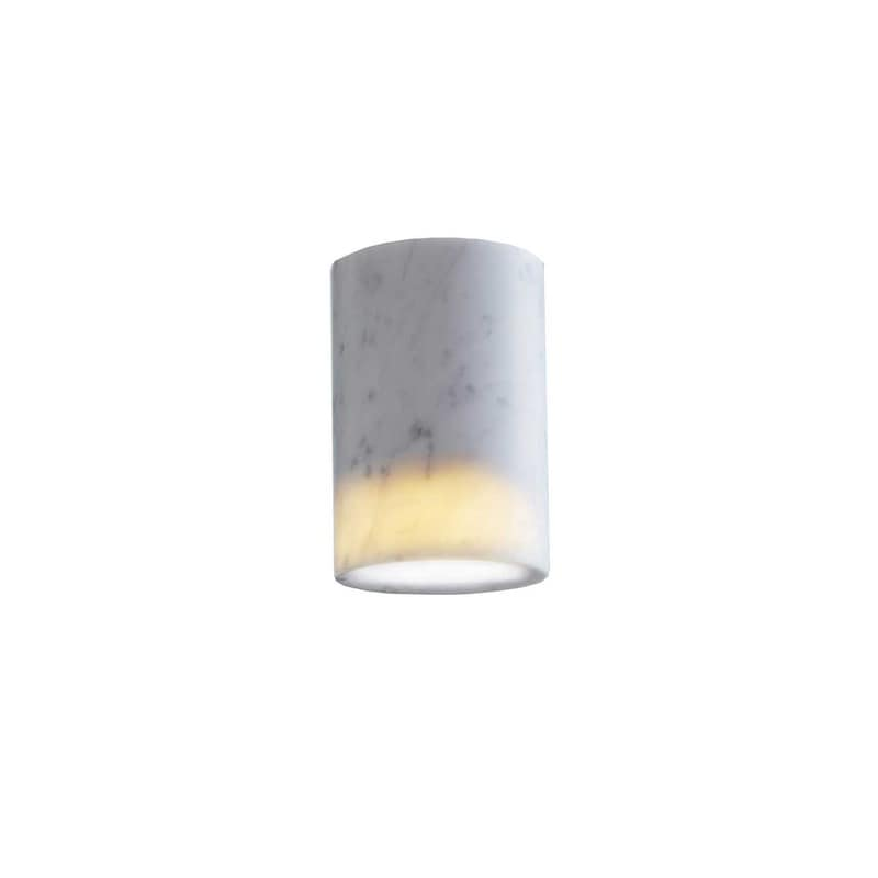 Solid cylinder plafond vit carrara marmor