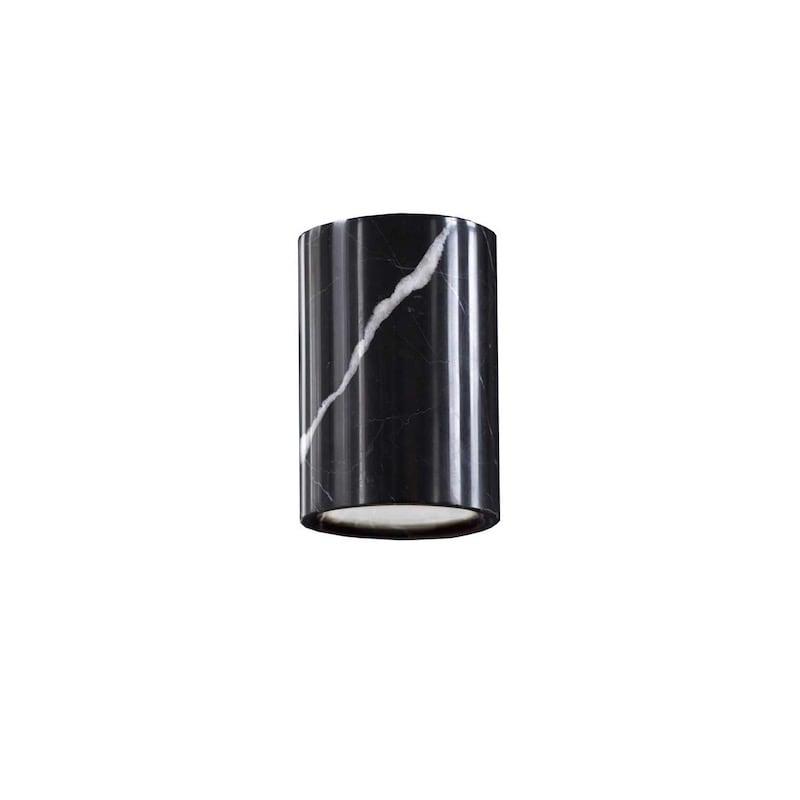 Solid cylinder plafond svart Marquina marmor