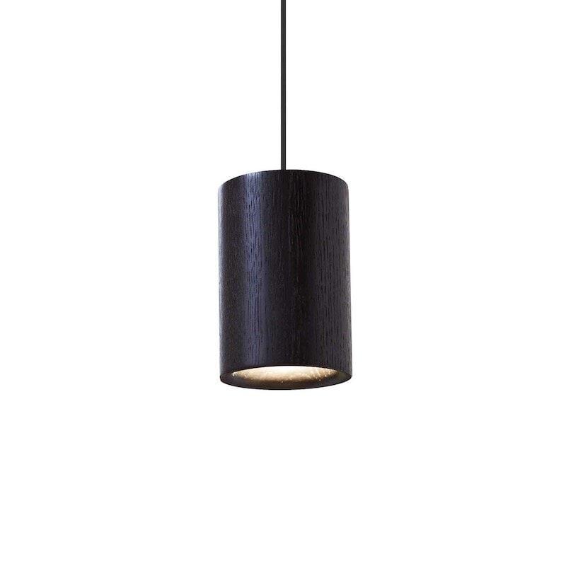 Solid cylinder taklampa svart