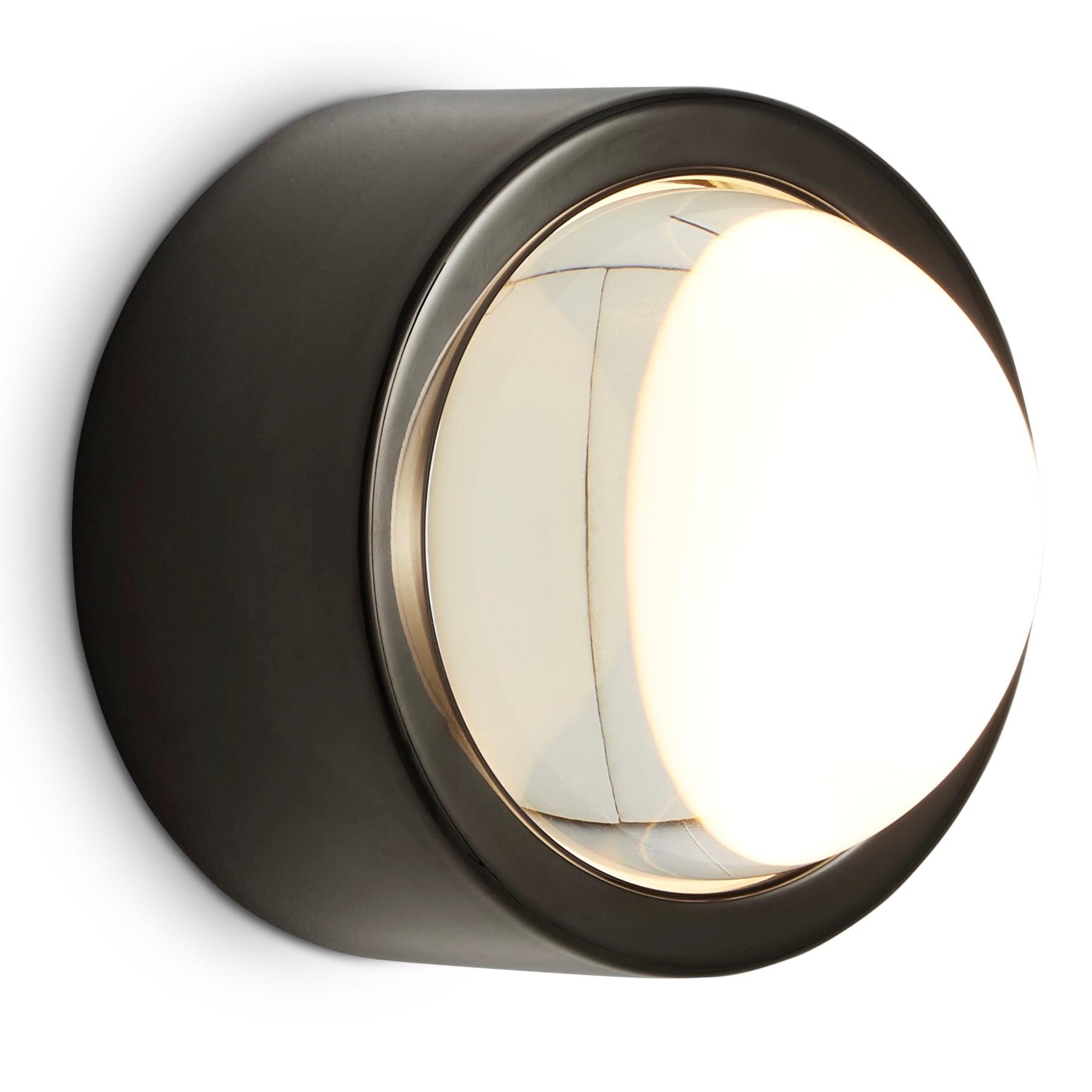 Spot Round vägglampa svart