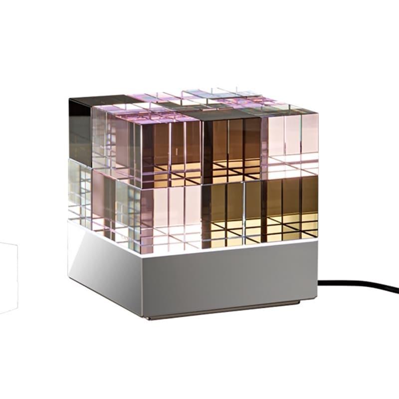Cubelight MSCL 2 bordslampa klarglas/Rosa/Svart