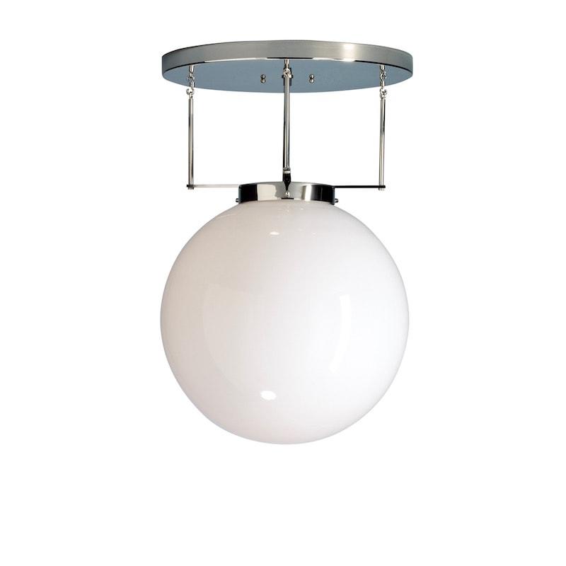 DMB 26 Bauhaus Ø25 plafond Nickel/Opalglas