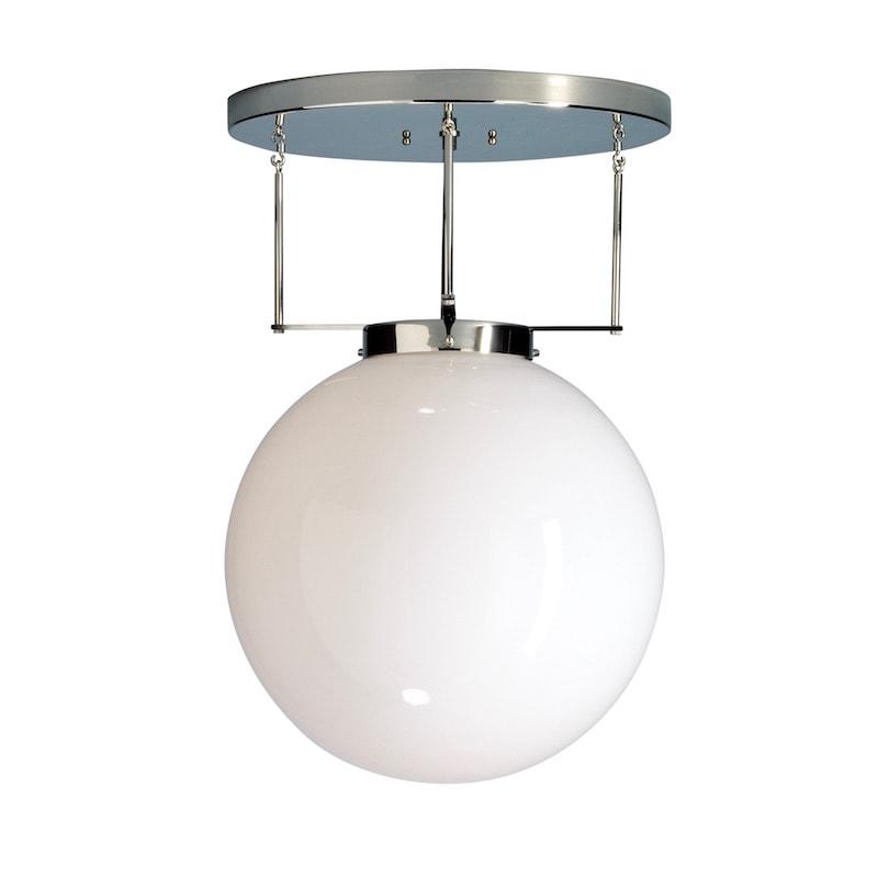 DMB 26 Bauhaus Ø30 plafond Nickel/Opalglas