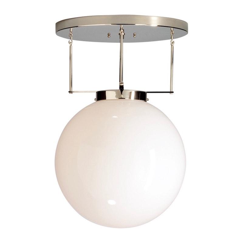 DMB 26 Bauhaus Ø35 plafond nickel/opalglas