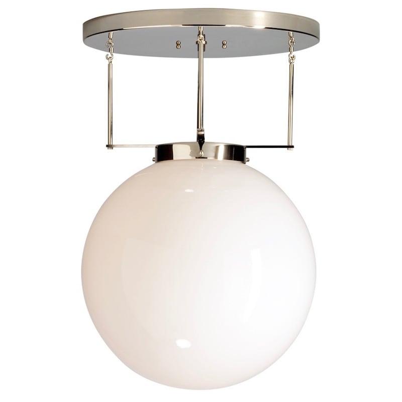 DMB 26 Bauhaus Ø40 plafond nickel/opalglas