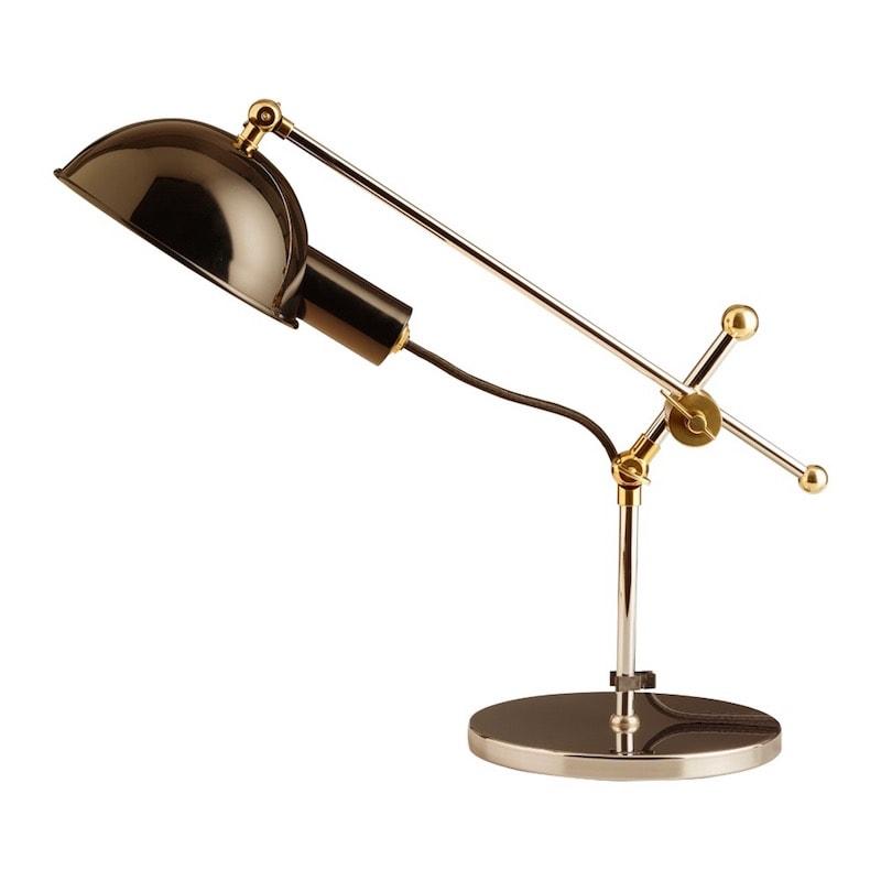 SF 27 Bauhaus bordslampa krom, mässing