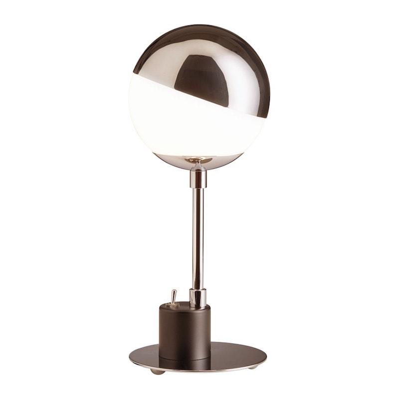 SF 28 Bauhaus bordslampa krom, opalglas