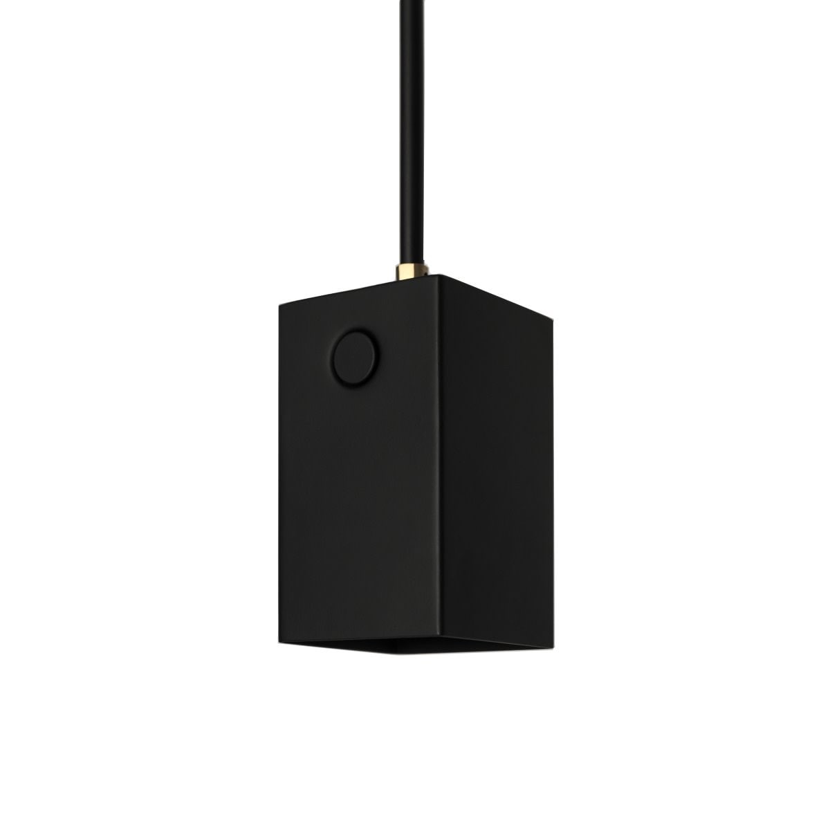 Box taklampa svart