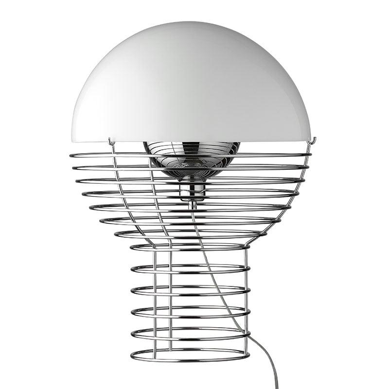 Wire large bordslampa vit