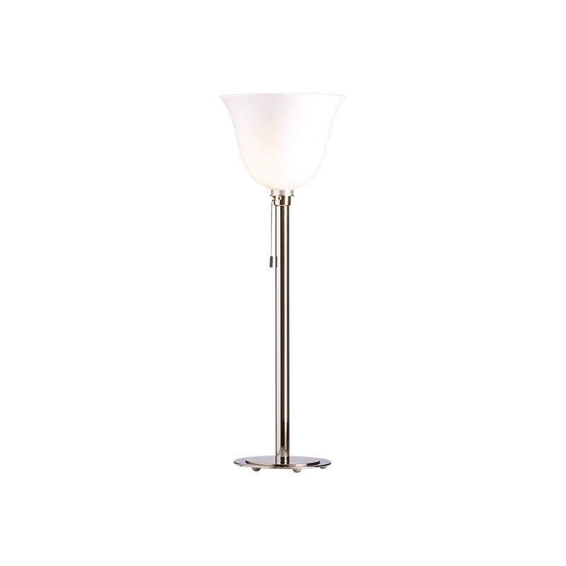 AD 30 Art Déco bordslampa/golvlampa förnicklad Krom/opalglas