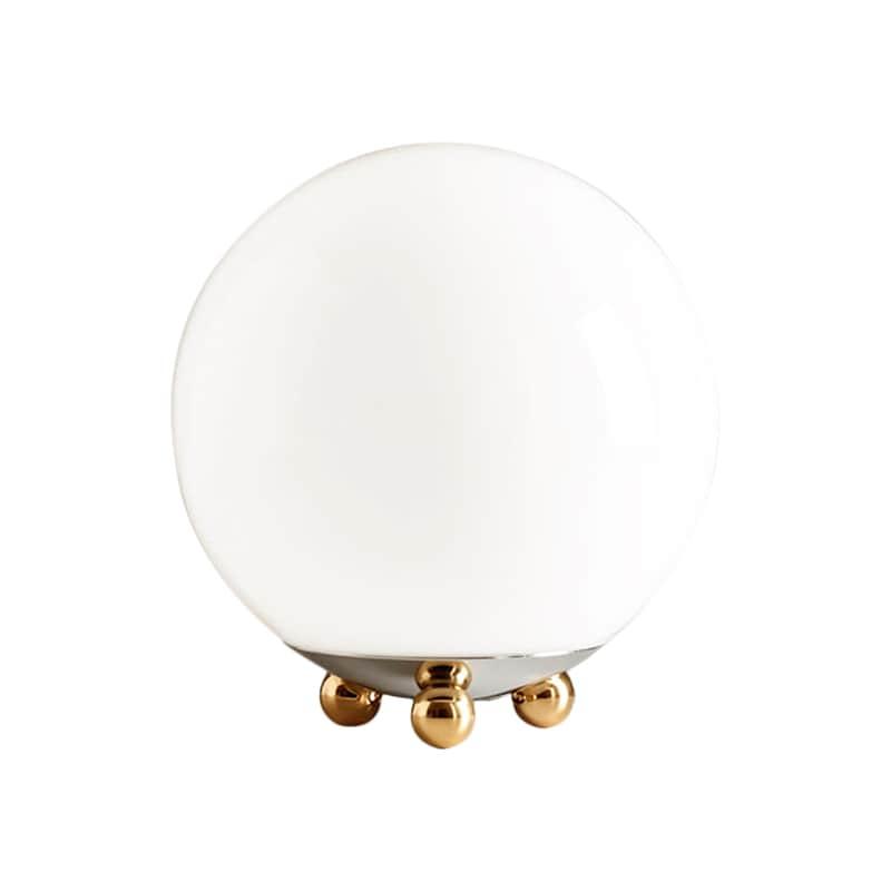 AD 32 Art Déco bordslampa krom/mässing/opalglas