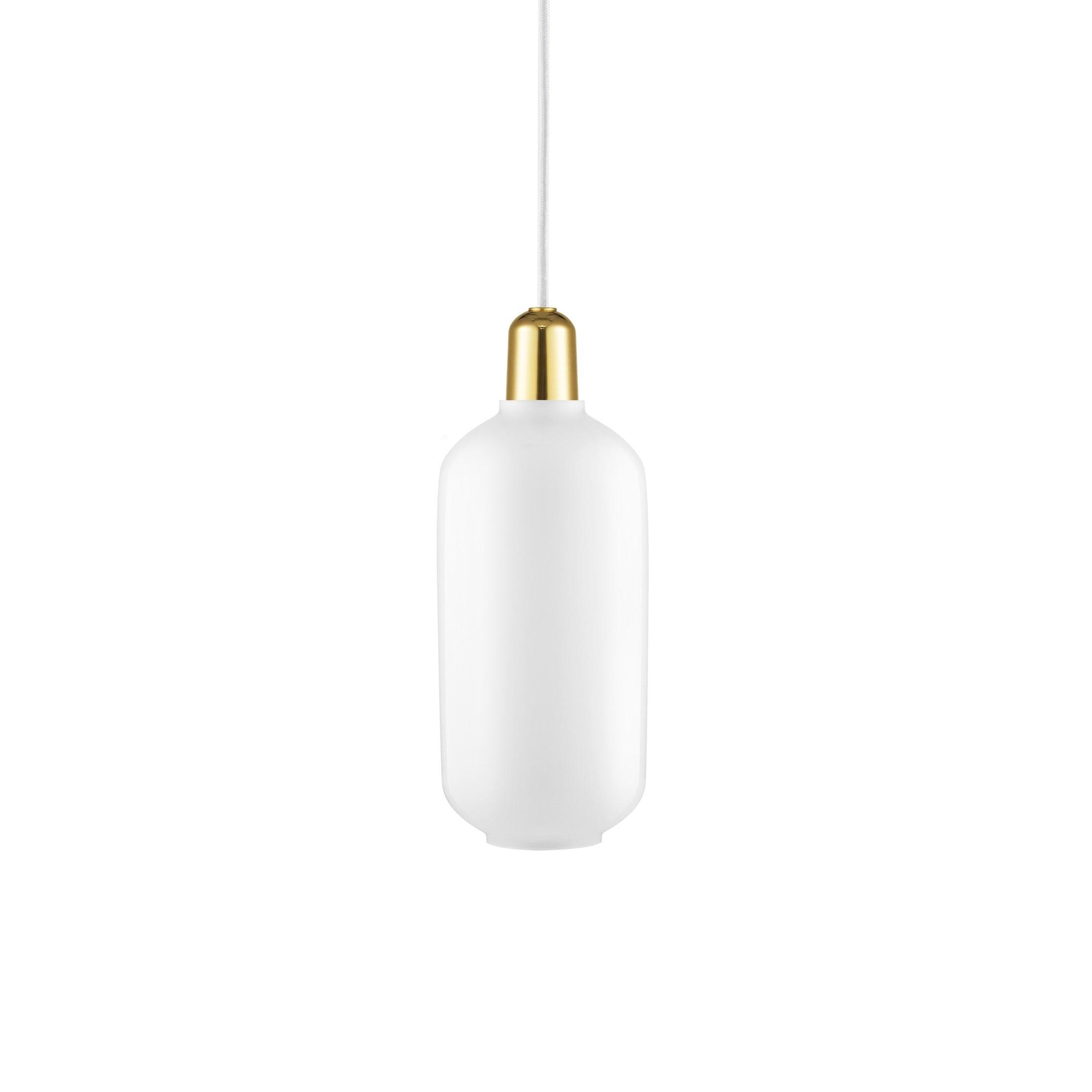 Amp Taklampa L white/brass