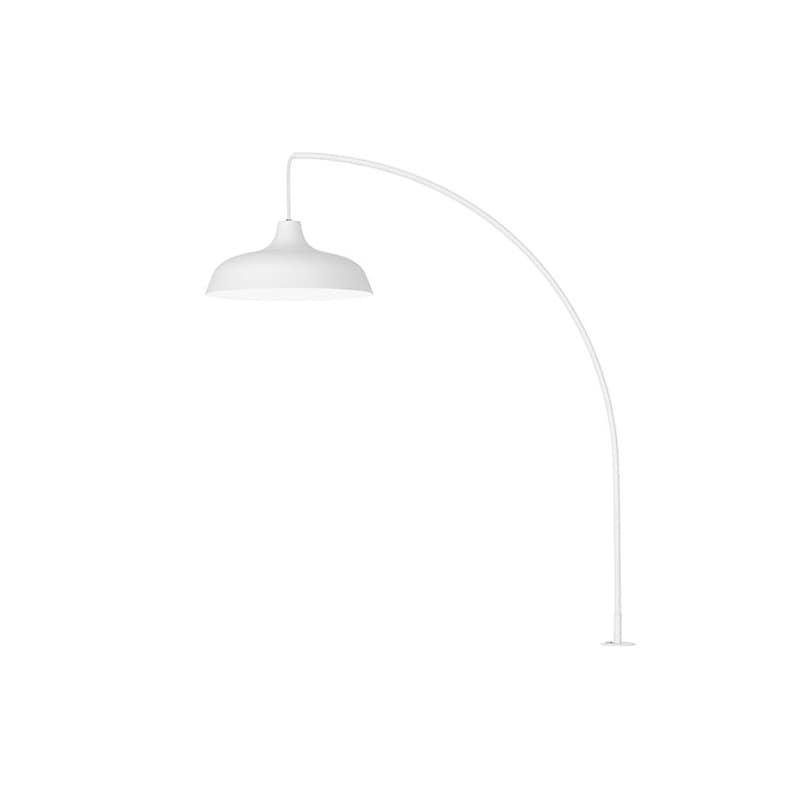 Arch bordslampa med klämfäste vit