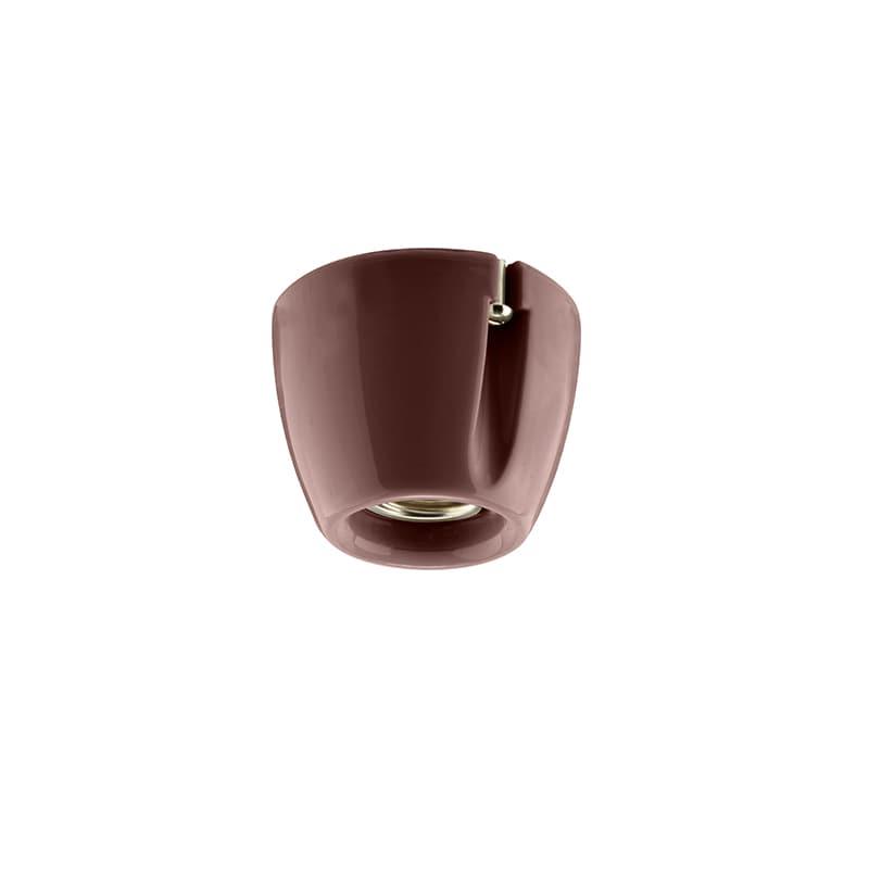 Basic taklampa/vägglampa brun IP20 rak sockel