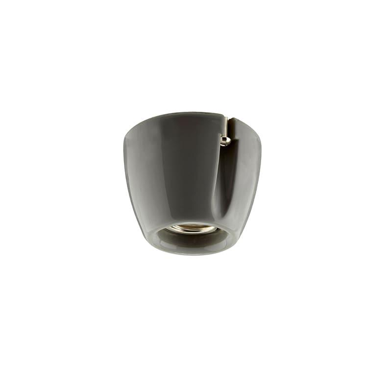 Basic taklampa/vägglampa grå IP20 rak sockel