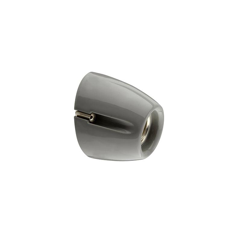 Basic vägglampa grå IP20 sned sockel