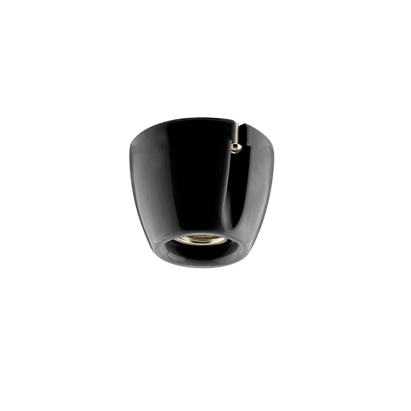 Basic taklampa/vägglampa svart IP20 rak sockel
