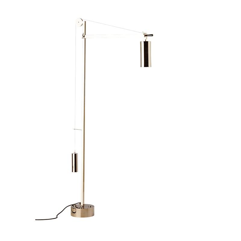 BH 23 Bauhaus golvlampa nickel