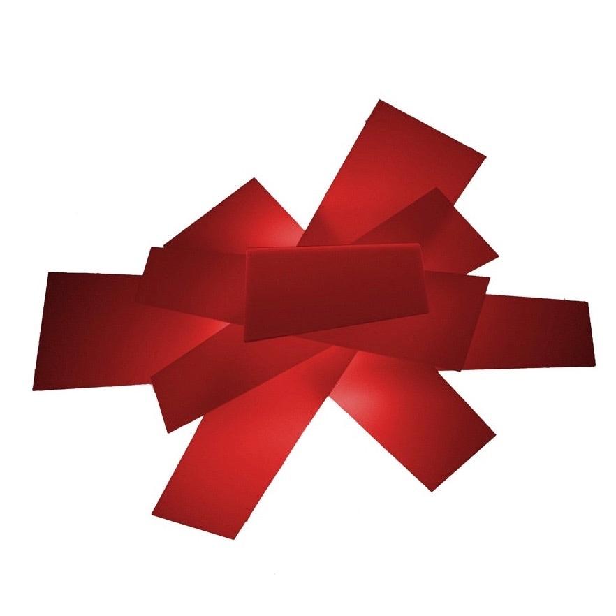 Big Bang vägglampa/plafond röd