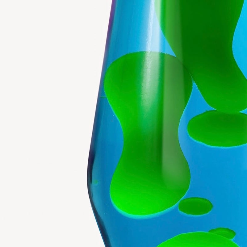 Astro reservflaska blå med grön lava