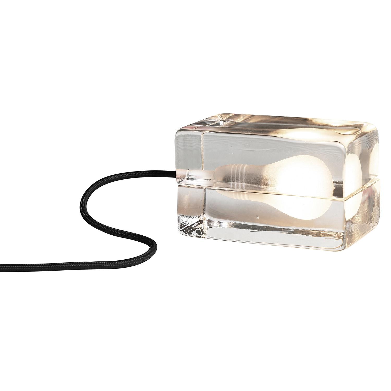 Block lamp bordslampa svart sladd