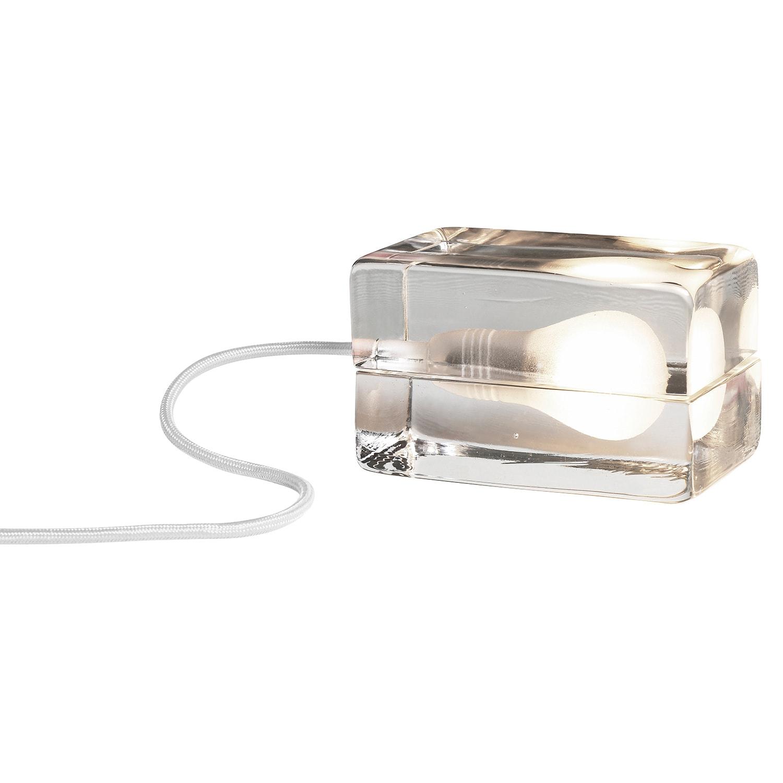 Block lamp bordslampa vit sladd