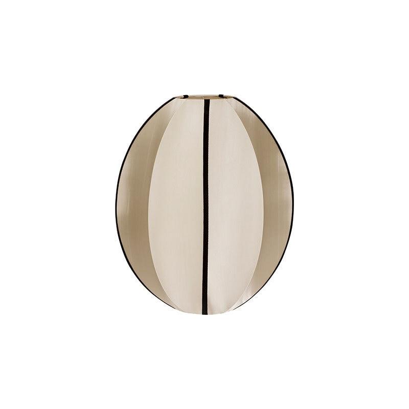 Indochina oval S lampskärm kit white/black ribbon