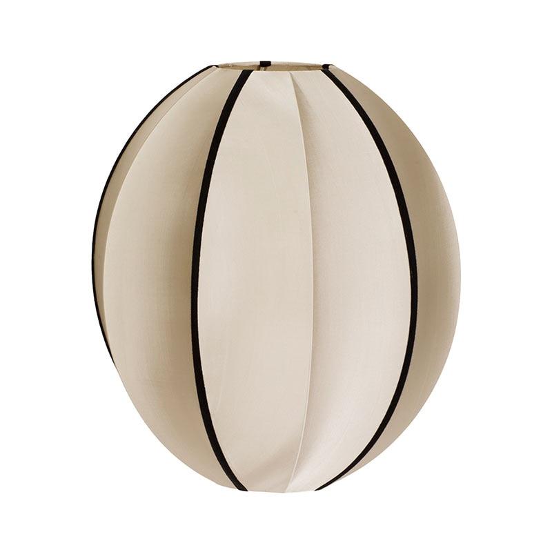 Indochina oval B lampskärm kit white/black ribbon